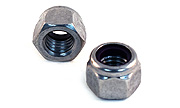 3/8-16 Lock Nuts Purple Insert - Waxed 18-8 / 304 Stainless Steel