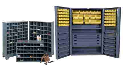 Drawers, Racks, Bolt Bins, & Cases