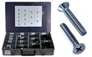 FLAT Head Machine Screw Assortment Kit 18-8 Stainless Steel