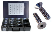 FLAT HEAD SOCKET CAP SCREW Assortment Kit 18-8 / 304 Stainless Steel