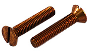 5/16-18 x 1 1/4 Flat Head Silicon Bronze Machine Screw Slotted