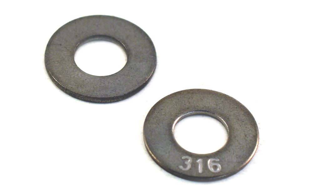 1/2 Flat Washers 316 Stainless