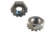 10-32 Hex Keps Nuts 18-8 Stainless Fine Pitch