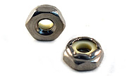 10-24 THIN Nylon Insert Hex Jam Lock Nuts 18-8 / 304 Stainless Steel