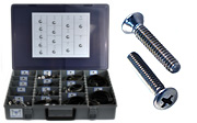 OVAL Head Machine Screw Assortment Kit 18-8 Stainless Steel