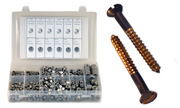 Flat Wood Screw Silicon Bronze Slotted Assortment Kit