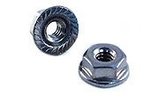 10-24 Hex Serrated Flange Nuts 18-8 / 304 Stainless Steel