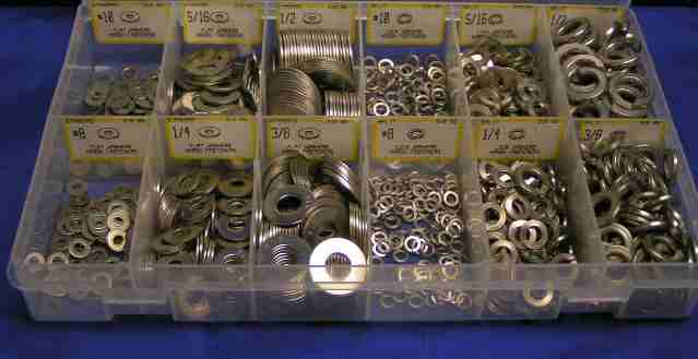 Flat & Lock Washer Assortment - 316 Stainless Steel