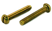 Round-Head Slotted Machine Screw- Brass