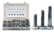 Coarse Thread Hex Head Cap Screws, Nuts, Washers Assortment 316 Stainless Steel