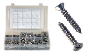 Phillips Flat Head Sheet Metal Screws Assortment  Kit Set 316 Stainless Steel