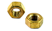 1/4-20 Brass Hex Nuts