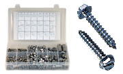 Slotted Hex Washer Head Sheet Metal Screws Assortment  Kit Set 18-8 Stainless Steel