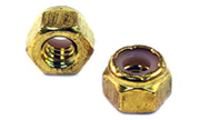 1/4-20 Brass Nylon Insert Lock Stop Nuts