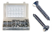 Phillips Oval Head Sheet Metal Screws Assortment  Kit Set 316 Stainless Steel